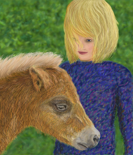 Girl and Foal
